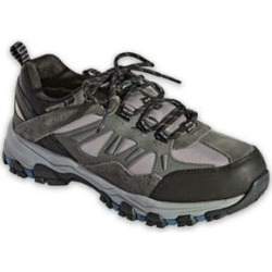 Men's Skechers Selmen Enago Leather Shoes, Grey 10.5 Double Wide found on Bargain Bro from Blair.com for USD $56.99