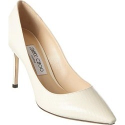 Jimmy Choo Romy 85 Patent Pump (40), Women's, Multicolor(leather, chevron) found on MODAPINS from Overstock for USD $549.99