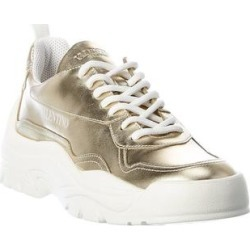 Valentino Chunky Leather Sneaker (39.5), Women's, Yellow found on Bargain Bro Philippines from Overstock for $659.99