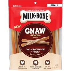 Milk-Bone Gnaw Bones Small Chicken Flavored Stick Dog Treats, 12 count found on Bargain Bro from Chewy.com for USD $6.57