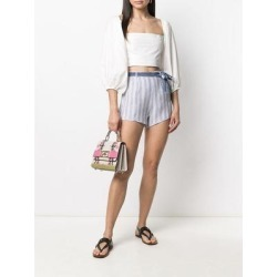Stripe-print Tie-waist Shorts - White - Ermanno Scervino Shorts found on Bargain Bro from lyst.com for USD $122.36