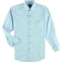 Alfani Mens Regular Button Up Dress Shirt (Blue - 15