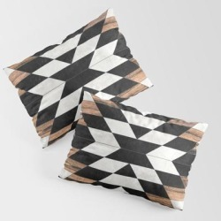 Urban Tribal Pattern No.13 - Aztec - Concrete And Wood King Size Pillow Sham by Zoltan Ratko - STANDARD SET OF 2 - Cotton found on Bargain Bro from Society6 for USD $28.49