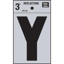 Hy-Ko 4 in. Sticker House LetterVinyl in Black, Size 4.0 H x 2.5 W x 0.01 D in   Wayfair RV-50/Y found on Bargain Bro Philippines from Wayfair for $30.90