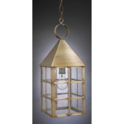 Northeast Lantern York 19 Inch Tall 1 Light Outdoor Hanging Lantern - 7142-AB-MED-CSG