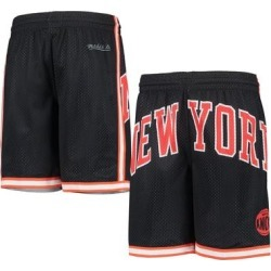 New York Knicks Youth Hardwood Classics Throwback Big Face Mesh Shorts - Black found on Bargain Bro Philippines from Fanatics for $49.99
