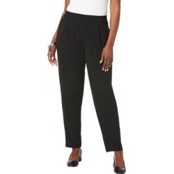 Plus Size Women's Knit Crepe Straight Leg Pants by Jessica London in Black (Size 16 W) found on Bargain Bro Philippines from Ellos for $39.99