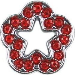 Parisian Pet 10mm Slider Rhinestone Flower Collar Charm, Red found on Bargain Bro India from Chewy.com for $2.72