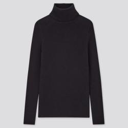 UNIQLO Women's Extra Fine Merino Ribbed Turtleneck Sweater, Navy, M found on Bargain Bro Philippines from Uniqlo for $39.90