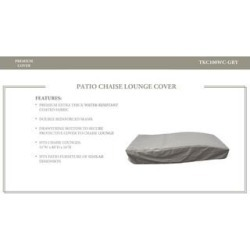 Bali Chaise Lounge Protective Cover, in Grey, Gray, TK Classics(Polypropylene) found on Bargain Bro Philippines from Overstock for $69.99