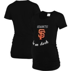 San Francisco Giants Soft as a Grape Women's Maternity Side Ruche Scoop Neck T-Shirt – Black found on Bargain Bro India from Fanatics for $40.99