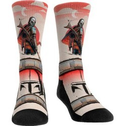 Rock Em Apparel Socks - The Mandalorian Red Mando Setting Sun Socks - Kids & Adult found on Bargain Bro from zulily.com for USD $9.11