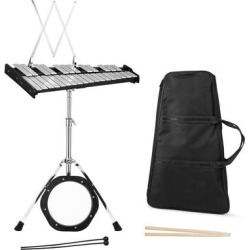 30 Notes Percussion with Practice Pad Mallets Sticks Stand - Black found on Bargain Bro Philippines from Overstock for $170.95