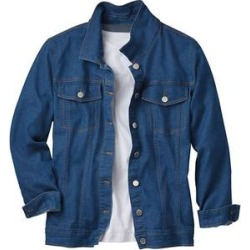 Haband Womens Stretch Jean Jacket, Blue, Size 4XL, 4X found on Bargain Bro Philippines from Haband for $18.99