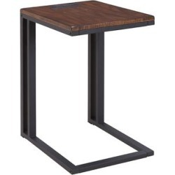 Soho C-table with Charging Station in Espresso, Brown
