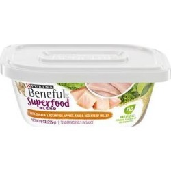 Purina Beneful Superfood Blend With Chicken & Oceanfish in Sauce Wet Dog Food, 9-oz tub, case of 8 found on Bargain Bro from Chewy.com for USD $12.71