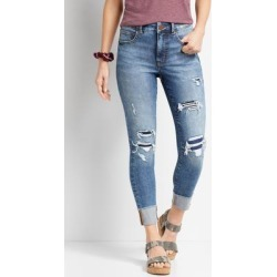Maurices Womens Everflex™ High Rise Medium Wash Super Skinny Ankle Jeans Blue - Size 0 found on Bargain Bro from Maurices for USD $37.92