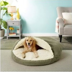 Snoozer Pet Products Luxury Cozy Cave Orthopedic Cat & Dog Bed w/Removable Cover, Olive, X-Large found on Bargain Bro India from Chewy.com for $199.99