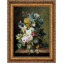 Vault W Artwork Still Life w/ Flowers, 1839 Framed Painting Print on CanvasCanvas & Fabric in Brown/Green/Yellow, Size 23.0 H x 18.0 W x 2.0 D in found on Bargain Bro Philippines from Wayfair for $169.99