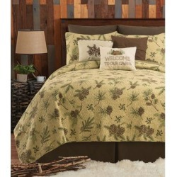 Sierra Retreat Rustic 3 Piece Quilt Set - Twin 2 Piece found on Bargain Bro from Overstock for USD $85.49