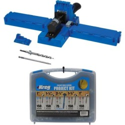 Kreg Pocket-Hole Jig with Pocket-Hole Screw Project Kit in 5 Sizes (Blue) found on Bargain Bro India from Overstock for $159.00