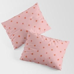 Pillow Sham | Sparkles Pink & Red by Sleepingwithghosts - STANDARD SET OF 2 - Cotton - Society6 found on Bargain Bro from Society6 for USD $30.39