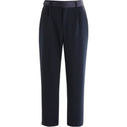 Contrast Belt Trousers In Navy - Blue - Paisie Pants found on MODAPINS from lyst.com for USD $98.00