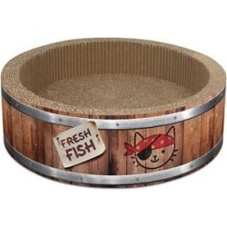 Catit Play Pirates Barrel Cat Scratcher, Small found on Bargain Bro from Chewy.com for USD $16.71