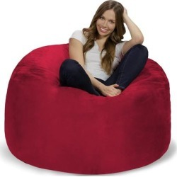 Bean Bag Chair 4-foot Memory Foam Removable Cover Bean Bags found on Bargain Bro from Overstock for USD $124.25