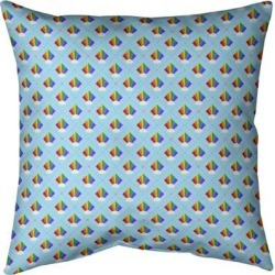 Porch & Den Wishram Argyle Rainbow Pattern Throw Pillow found on Bargain Bro from Overstock for USD $45.59