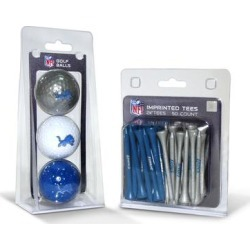 Detroit Lions 3-Golf Ball & 50-Golf Tee Set found on Bargain Bro from nflshop.com for USD $22.79