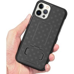 Tech Zebra Cellular Phone Cases Black - Protective Clip-On Holster Phone Case for iPhone 12 Pro found on Bargain Bro from zulily.com for USD $9.49
