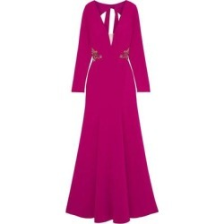 Open-back Embellished Tulle-trimmed Crepe Gown - Pink - Marchesa notte Dresses found on MODAPINS from lyst.com for USD $313.00