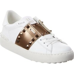 Valentino Rockstud Untitled Leather Sneaker (36.5), Women's, White found on Bargain Bro Philippines from Overstock for $658.90