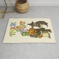 Happy Halloween! Modern Throw Rug by Eric Fan - 2' x 3' found on Bargain Bro Philippines from Society6 for $39.20