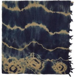 Indigo & Beige Tie-dyed Vintage Scarf - Blue - Nicholas Daley Scarves found on MODAPINS from lyst.com for USD $150.00