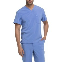 Dickies Men's Eds Essentials V-Neck Scrub Top - Ceil Blue Size 5Xl (DK635) found on Bargain Bro India from Dickies.com for $24.99