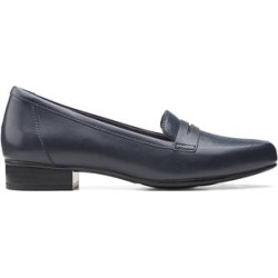 Clarks Women's Loafers Navy - Navy Juliet Coast Leather Loafer - Women found on Bargain Bro from zulily.com for USD $21.91