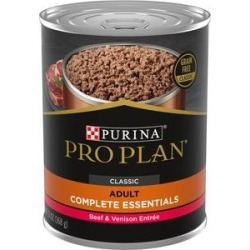 Purina Pro Plan Savor Classic Beef & Venison Entree Grain-Free Canned Dog Food, 13-oz, case of 12 found on Bargain Bro from Chewy.com for USD $17.05