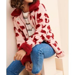 Glamorous Women's Overcoats PINK - Pink & Red Abstract Faux Fur Zip-Up Coat - Women found on MODAPINS from zulily.com for USD $49.99