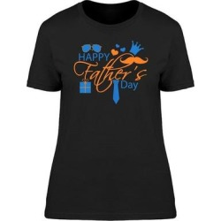 Happy Fathers Day Garments Tee Women's -Image by Shutterstock (White - XL)(cotton, Graphic) found on Bargain Bro Philippines from Overstock for $13.99