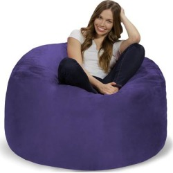 Bean Bag Chair 4-foot Memory Foam Removable Cover Bean Bags found on Bargain Bro from Overstock for USD $166.81