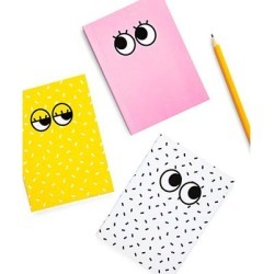 Mustard Notepads and Notebooks multi - Googly Eyes Notebook - Set of Three found on Bargain Bro from zulily.com for USD $6.07