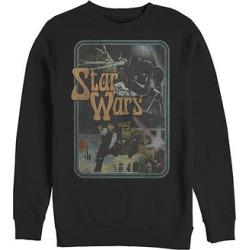 Fifth Sun Men's Sweatshirts and Hoodies BLACK - Star Wars Black Retro Film Stills Sweatshirt - Men found on Bargain Bro from zulily.com for USD $22.79