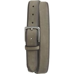 Nubuck Leather Belt - Gray - AllSaints Belts found on Bargain Bro from lyst.com for USD $59.28