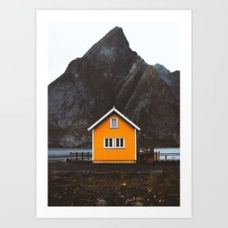 Art Print | Yellow Cabin by Damon Beckford Photography - X-Small - Society6 found on Bargain Bro India from Society6 for $16.79