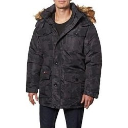 Canada Weather Gear Parka Coat for Men-Insulated Winter Jacket w/ Faux Fur Hood (Black Camo - L), Men's, Black Green found on MODAPINS from Overstock for USD $91.54