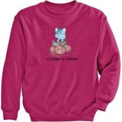 Women's Kitten Graphic Sweatshirt, Cyber Pink/Kitten M Misses found on Bargain Bro Philippines from Blair.com for $24.99