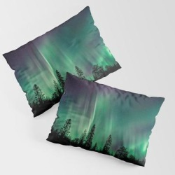 King Size Pillow Sham | Aurora Borealis (heavenly Northern Lights) by Staywild - STANDARD SET OF 2 - Cotton - Society6 found on Bargain Bro from Society6 for USD $30.39