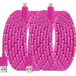 Shou Lightning Cables Rose - Rose Red 10' Woven Nylon Lightning Cable - Set of Two found on Bargain Bro India from zulily.com for $12.99